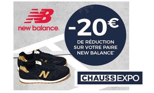 20€ De Remise Sur L'achat D'une Paire De New Balance
