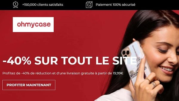 40% De Reduction Sur Tout Le Site Oh My Case