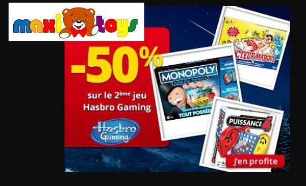 50% De Remise Immédiate Sur Le Second Jeux Hasbro Gaming Sur Maxitoys