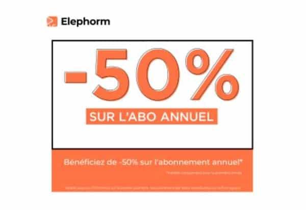 50% De Remise Sur L'abonnement Annuel à Elephorm
