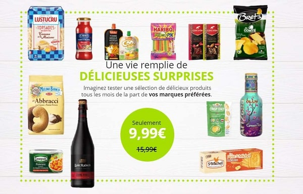 9,99€ seulement la degustabox