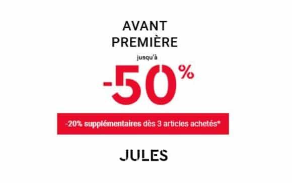 Avant Première Jules Jusqu'à 50% Dès 2 Articles Achetés
