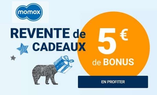 Bonus Revente De Cadeaux Momox 5€ Offert