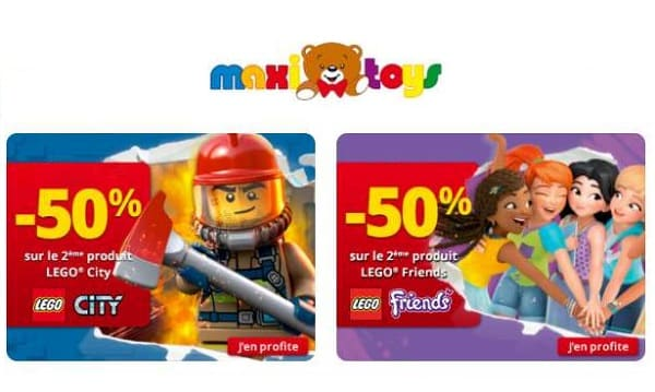 Offre Lego City Lego Friends Maxitoys