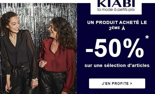 Offre Spéciale Kiabi 50% De Remise Sur Votre Deuxième Article