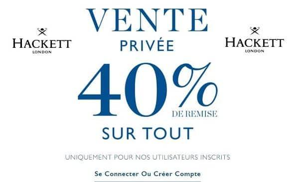 Vente Privée Hackett 40% De Remise Sur Tout En Pré Soldes
