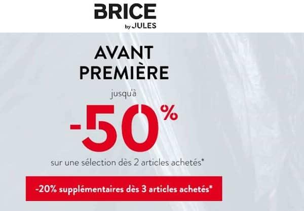 Jusqu'à 50% Dès 2 Articles Achetés Sur Brice Et 20% Suppl. Dès 3 Articles