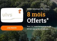 8 mois d'abonnement Ulys Classic ou Ulys Liber-t Vacances avec votre badge télépéage Ulys – VINCI Autoroutes 🚘