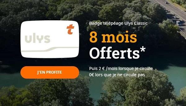 8 mois d'abonnement Ulys Classic ou Ulys Liber-t Vacances avec votre badge télépéage Ulys – VINCI Autoroutes