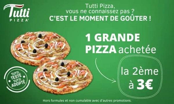 Bon D'achat Tutti Pizza 1 Grande Pizza Achetée = La 2e Pizza à 3€