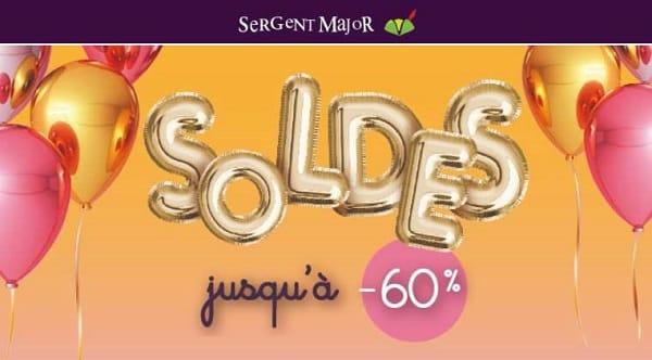 La première démarque des soldes de Sergent Major : déjà jusqu'à -60%