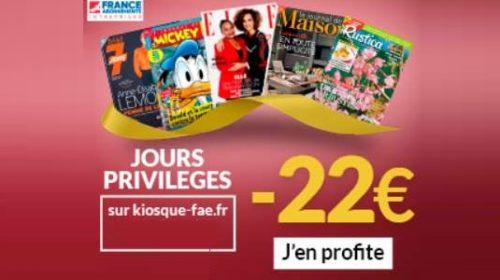 Les Jours Privilèges Magazines Remise Sur Vos Abonnements Magazine Pendant Les Pré Soldes France Abonnements