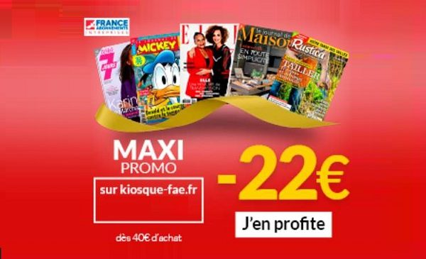 Maxi Promo abonnements magazines pendant les soldes : 12€ ou 22€ de remise en plus