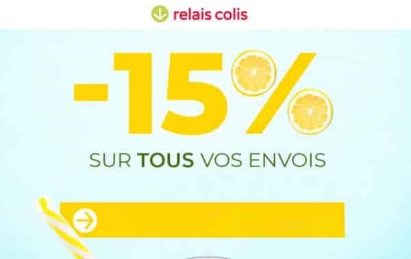 pour les soldes relais colis vous offre une remise de 15% sur votre envoi de colis
