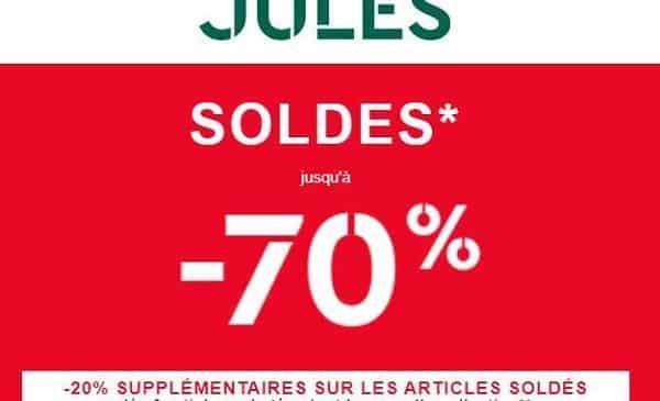 Soldes Jules jusqu'à moins 70% et -20% en plus dés 3 articles