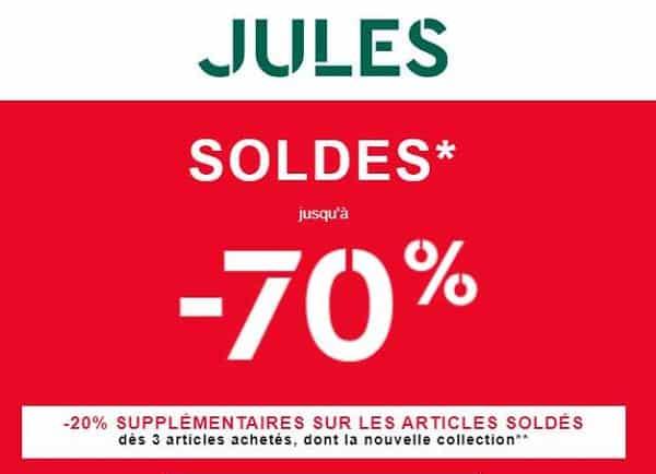 Soldes Jules Jusqu'à Moins 70% Et 20% En Plus Dés 3 Articles