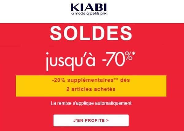 Soldes Kiabi 20% Supplémentaires à Partir De 2 Articles Achetés