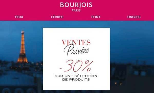 Ventes Privées Bourjois Paris