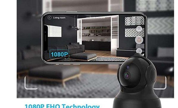 Caméra De Surveillance Wi Fi Avec Détecteur De Mouvements Et Vision Nocturne Cacagoo