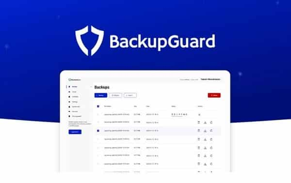 Licence Backupguard Wordpress Plugin à Vie Sauvegardez, Restaurez Ou Migrez Votre Site Web Wordpress Facilement