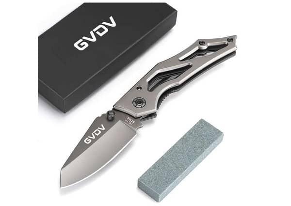 Petit Couteau Pliable De Poche Gvdv Avec Lame Acier Inoxydable 7cr17