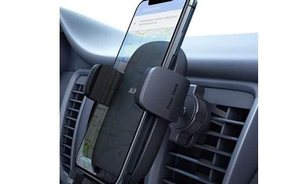 Support Smartphone Grille Aération Pivotante à 360° Aukey Hd C58 S