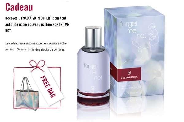 1 parfum forget me not victorinox acheté un sac a main victorinox (soit 59€ port inclus)