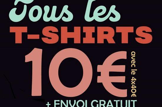 10€ les 4 t shirts aux choix sur pampling(t shirts de créateurs) + livraison gratuite