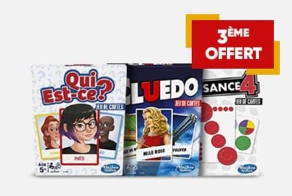 2 jeux de société hasbro gaming (version carte) achetés = le 3ème offert