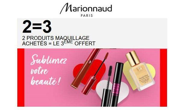 2 Produits De Maquillage Achetés Le Troisième Offert Sur Marionnaud