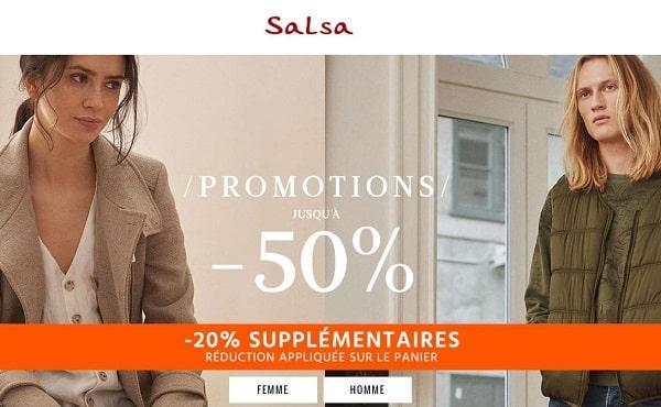 20% De Remise Supplémentaire Sur Les Articles En Promotions De Salsa