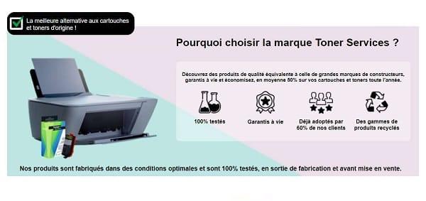 50% De Remise Sur La Deuxième Cartouche De Marque Toner Services