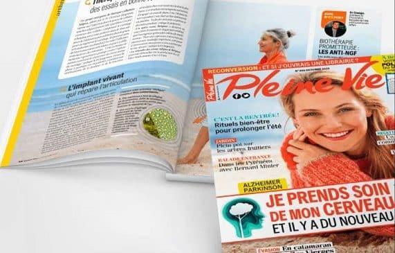 Abonnement magazine Pleine Vie pas cher : 31,90€ l'année (-40%) ou 2,24€/mois sans engagement (-49%)