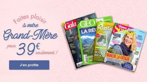 fête des grand mères offrez un abonnement magazine pour seulement 39€