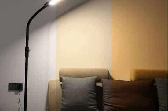 lampe sur pied led aukey 14 w