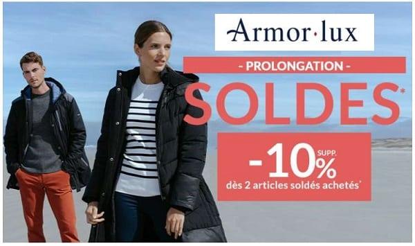 les soldes armor lux continuent 10% supplémentaires dès 2 articles