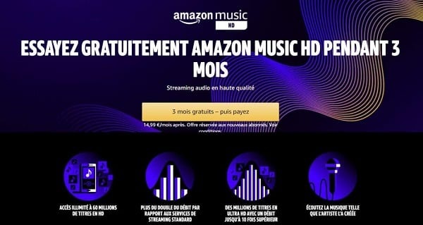 offre de bienvenue amazon music hd