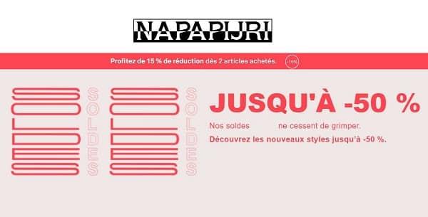 Toute Dernière Démarque Napapijri + 15% Supplémentaire Dés 2 Art.