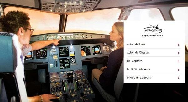 Vente Privée Simulateurs Aviasim Avion De Ligne, De Chasse, Hélicoptère