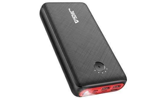 Batterie Externe 30000mah 3 Ports De Sortie + 3 Entrées Jiga Gn1