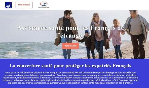 remise sur l'assistance santé pour les français de l'étranger axa ufe
