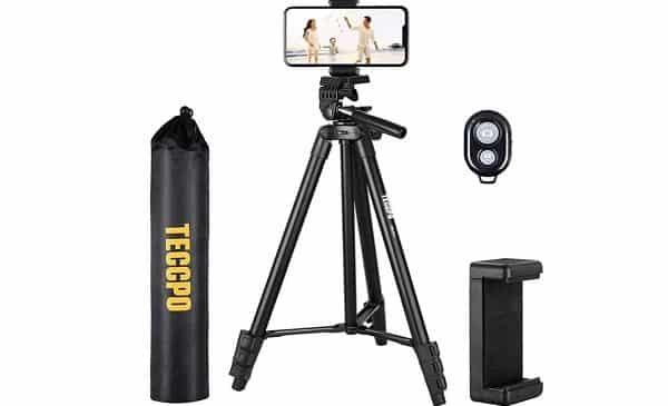 trépied pour appareil photo et smartphone teccpo pmlt01h