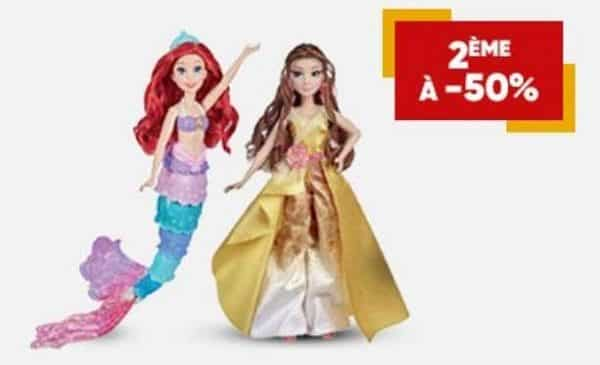 1 princesse disney achetée = la deuxième à moitié prix