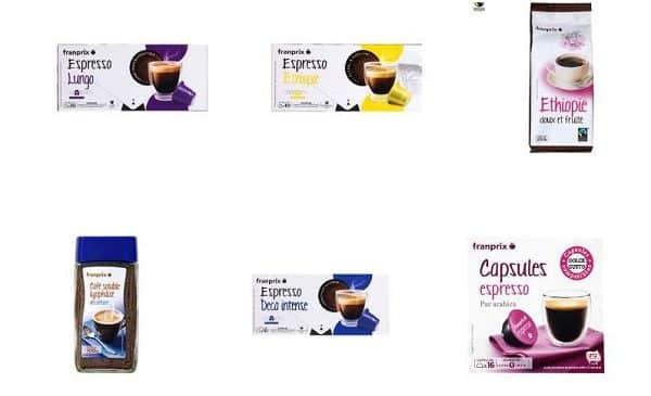 1 café franprix acheté = 50% du second crédité sur la carte bibi de franprix
