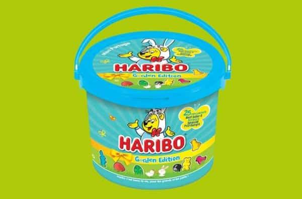 1 seau pâques garden edition haribo acheté = le second à moitié prix
