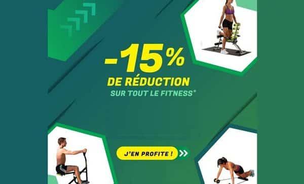 15% de remise sur tout l'univers fitness de best direct