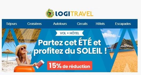 15% de remise sur votre séjour d'été avec logitravel