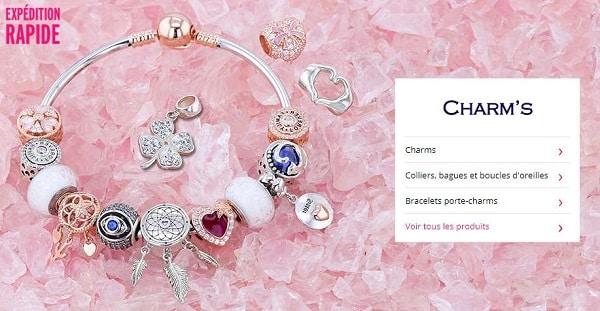 2 bijoux charms achetés = le troisième offert en vente privée