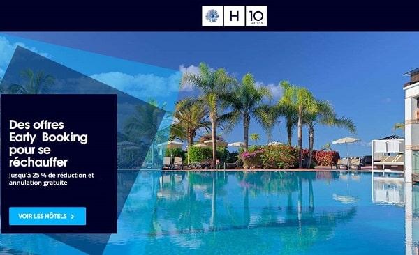 25% de réduction + annulation gratuite pour votre séjour dans un hôtel h10 hotels