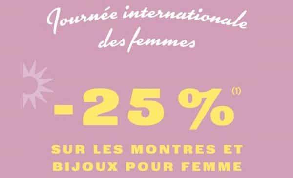 25 % de remise sur les modèles fossil pour femme